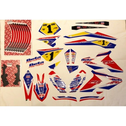 Kit adesivi Replica Holcombe 2019 Beta RR 2T 125-200-250-300 RR 4T 350-390-430-480 2018/2019