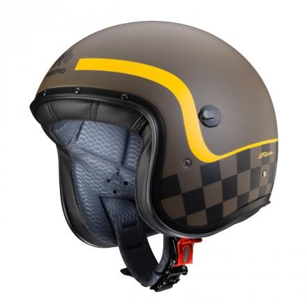 Casco Caberg Freeride Formula - marrone opaco/giallo